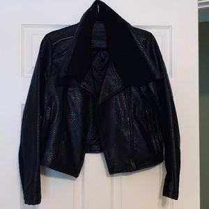 Blank NYC Box of Rocks Vegan Leather Moto Jacket